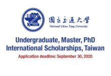 NCTU Scholarships 2021 in Taiwan